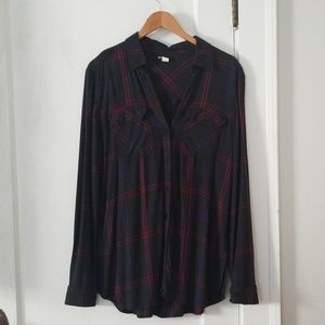 BDG flannel tunic, size small